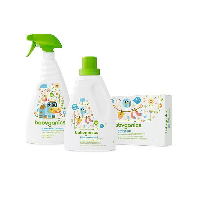 Alternate image 1 for Babyganics®Baby-Safe Laundry Essentials 3-Piece Kit