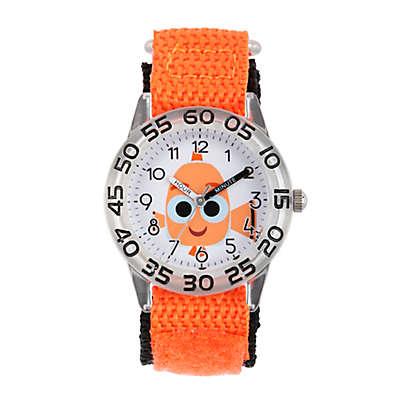 Disney® Finding Dory Children's 32mm Nemo Time Teacher Watch in Clear Plastic w/Nylon Strap