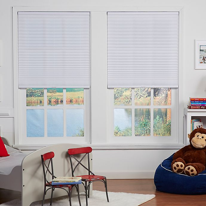 Alternate image 1 for Baby Blinds Cordless Pleat 45-Inch x 64-Inch Shade in Pearl White