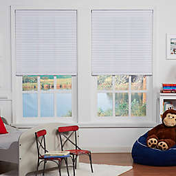 Baby Blinds Cordless Pleat Shade in Pearl White
