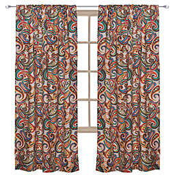 Levtex Home Alyssa 55-Inch Rod Pocket Paisley Window Curtain Panel in Beige