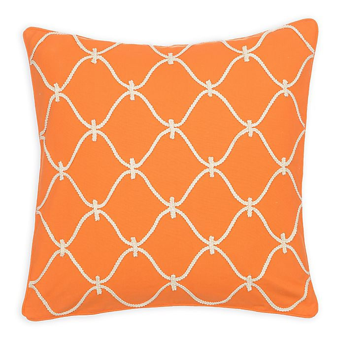 Alternate image 1 for Levtex Home Serendipity Orange Rope Square Throw Pillow