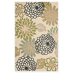 Safavieh Four Seasons Soho Floral 3-Foot 6-Inch x 5-Foot 6-Inch Rug in Beige/Green