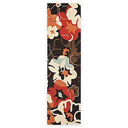 Safavieh Four Seasons Paradise 2-Foot 3-Inch x 8-Foot Runner in Black/Orange