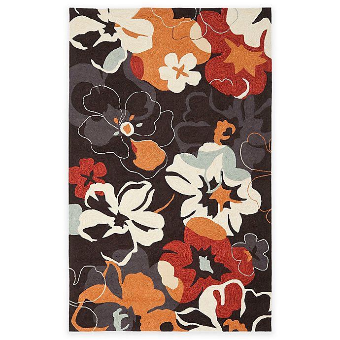 Safavieh Four Seasons Paradise Area Rug In Black Orange