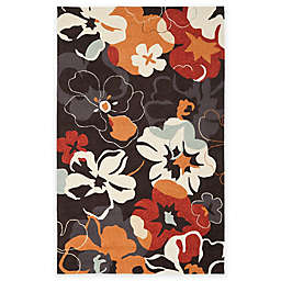 Safavieh Four Seasons Paradise Area Rug in Black/Orange