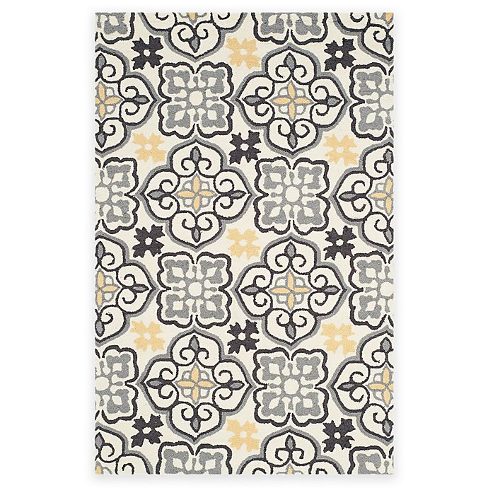 Alternate image 1 for Safavieh Four Seasons Tile 3-Foot 6-Inch x 5-Foot 6-Inch Area Rug in Grey/Ivory