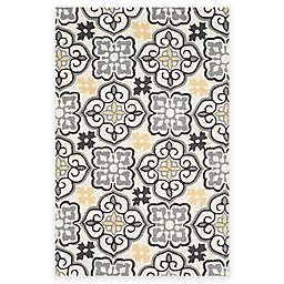 Safavieh Four Seasons Tile 3-Foot 6-Inch x 5-Foot 6-Inch Area Rug in Grey/Ivory