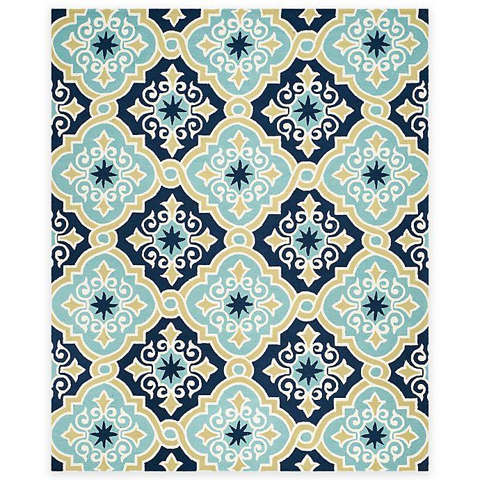 Alternate image 1 for Safavieh Four Seasons Diamond Tile 8-Foot x 10-Foot Area Rug in Light Blue