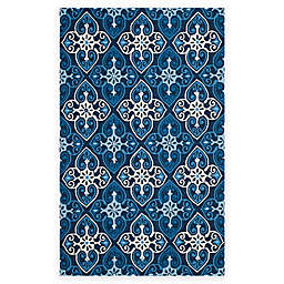Safavieh Four Seasons Star Tile Area Rug in Ivory/Navy