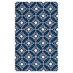 Safavieh Four Seasons Diamond Link 3-Foot 6-Inch x 5-Foot 6-Inch Rug in Ivory/Navy