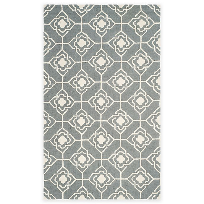 Alternate image 1 for Safavieh Four Seasons Diamond Link 3-Foot 6-Inch x 5-Foot 6-Inch Rug in Grey/Ivory