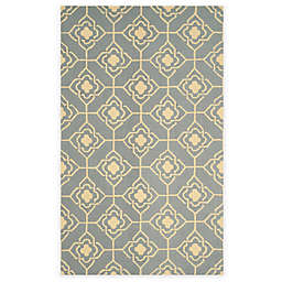 Safavieh Four Seasons Diamond Link 5-Foot x 8-Foot Area Rug in Grey/Gold
