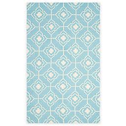 Safavieh Four Seasons Diamond Link 5-Foot x 8-Foot Area Rug in Blue/Ivory