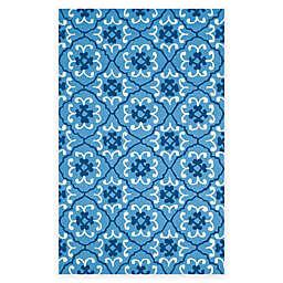 Safavieh Four Seasons Fleur 3-Foot 6-Inch x 5-Foot 6-Inch Rug in Blue/Ivory
