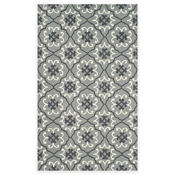 Alternate image 1 for Safavieh Four Seasons Fleur 3-Foot 6-Inch x 5-Foto 6-Inch Area Rug in Grey/Ivory