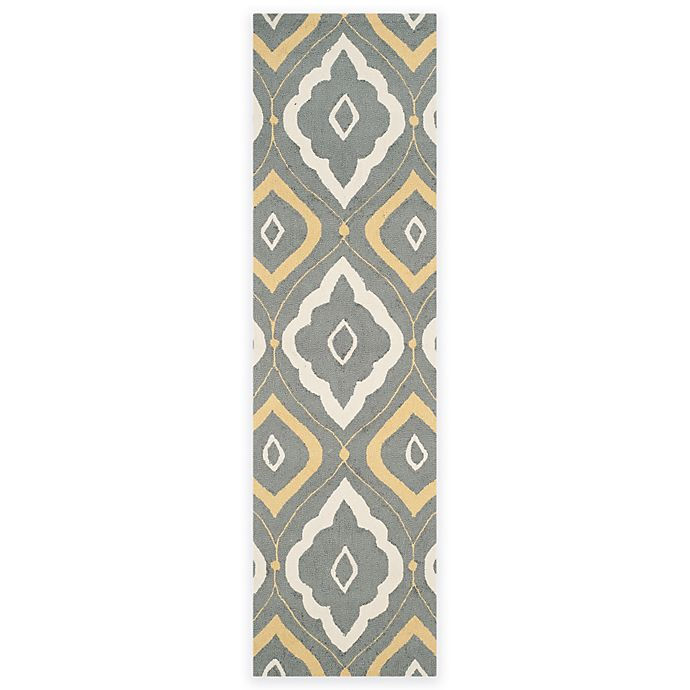 Alternate image 1 for Safavieh Four Seasons Bubbles 2-Foot 3-Inch x 8-Foot Runner in Grey/Ivory