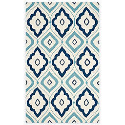 Safavieh Four Seasons Bubbles 3-Foot 6-Inch x 5-Foot 6-Inch Area Rug in Ivory/Navy