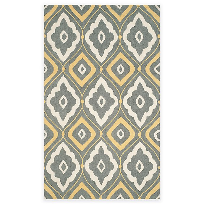 Alternate image 1 for Safavieh Four Seasons Bubbles 5-Foot x 8-Foot Area Rug in Grey/Ivory