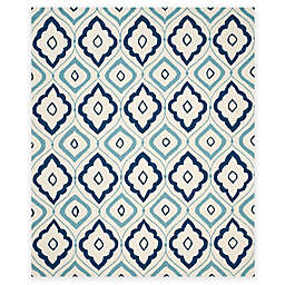 Safavieh Four Seasons Bubbles 8-Foot x 10-Foot Area Rug in Ivory/Navy