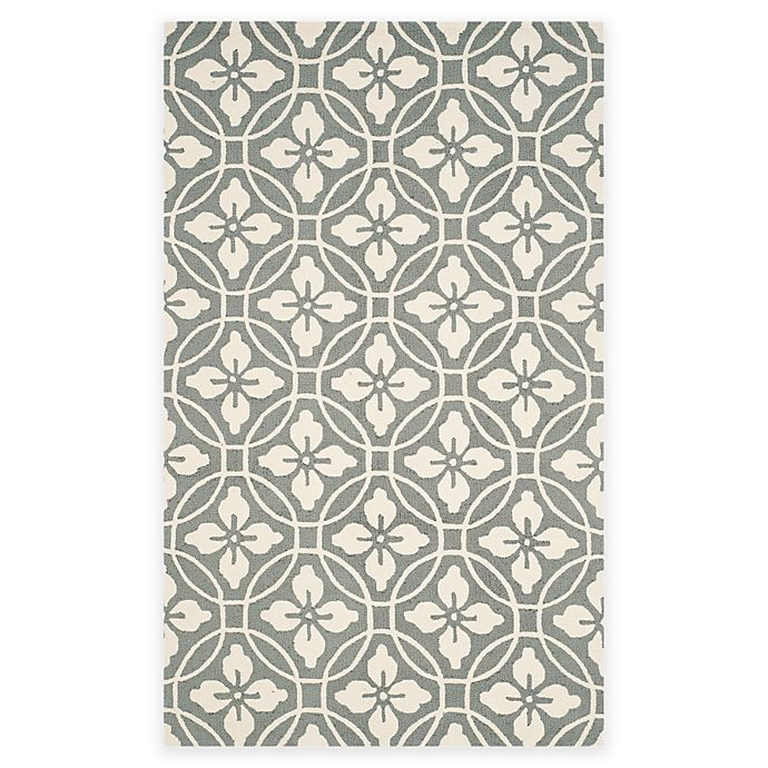 Alternate image 1 for Safavieh Four Seasons Circle Floral 3-Foot 6-Inch x 5-Foot 6-Inch Rug in Grey/Ivory