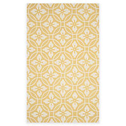 Safavieh Four Seasons Circle Floral 3-Foot 6-Inch x 5-Foot 6-Inch Rug in Gold/Ivory