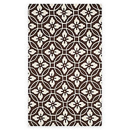 Safavieh Four Seasons Circle Floral 3-Foot 6-Inch x 5-Foot 6-Inch Rug in Chocolate