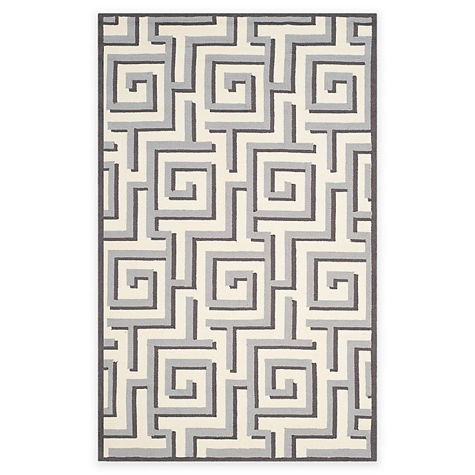 Alternate image 1 for Safavieh Four Seasons Greek Key 3-Foot 6-Inch x 5-Foot 6-Inch Rug in Ivory/Grey
