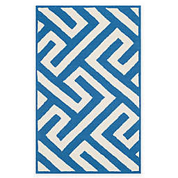 Four Seasons Maze 3-Foot 6-inch x 5-Foot 6-Inch  Area Rug in Ivory/Blue