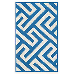 Four Seasons Maze 5-Foot x 8-Foot  Area Rug in Ivory/Blue