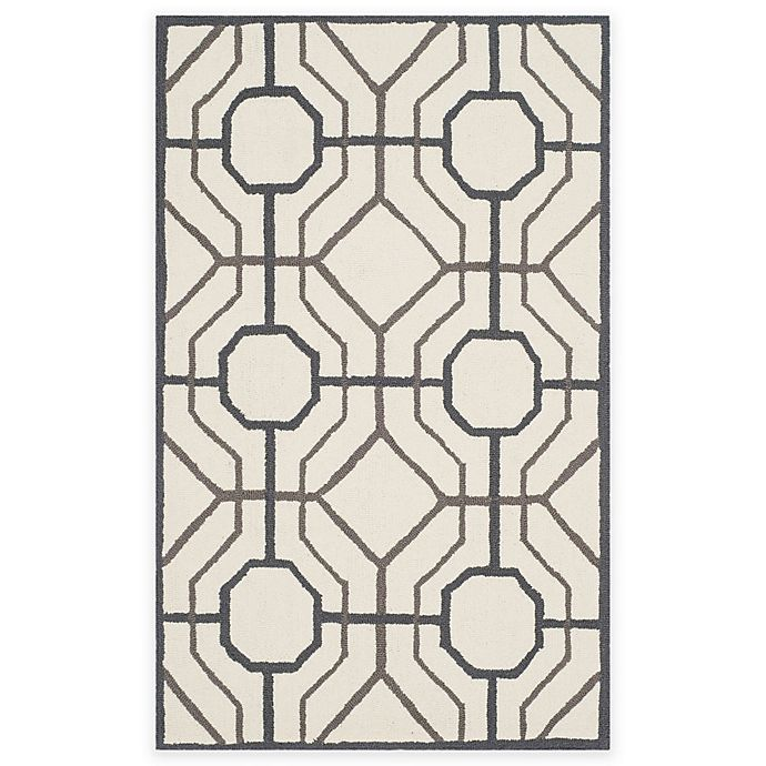 Alternate image 1 for Safavieh Four Seasons Logan 3-Foot 6-Inch x 5-Foot 6-Inch Area Rug in Ivory/Black