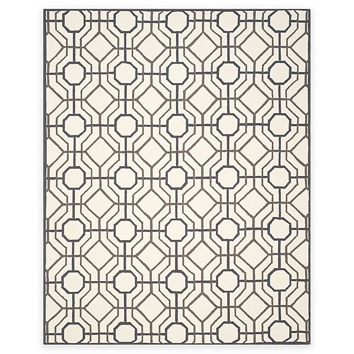 Alternate image 1 for Safavieh Four Seasons Logan 8-Foot x 10-Foot Area Rug in Ivory/Black