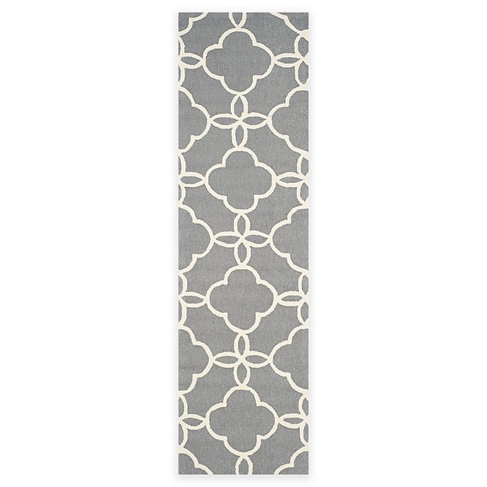Alternate image 1 for Safavieh Four Seasons Langley 2-Foot 3-Inch x 8-Foot Runner in Grey/ivory