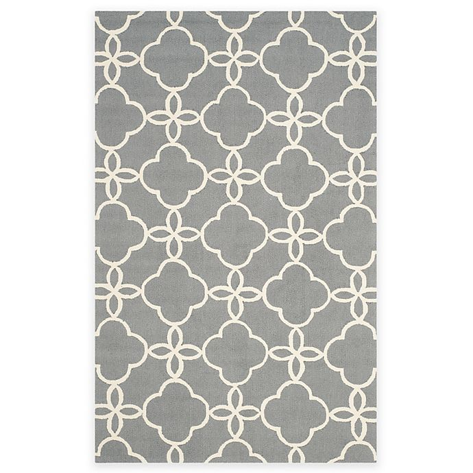 Alternate image 1 for Safavieh Four Seasons Langley 5-Foot x 8-Foot Area Rug in Grey/Ivory