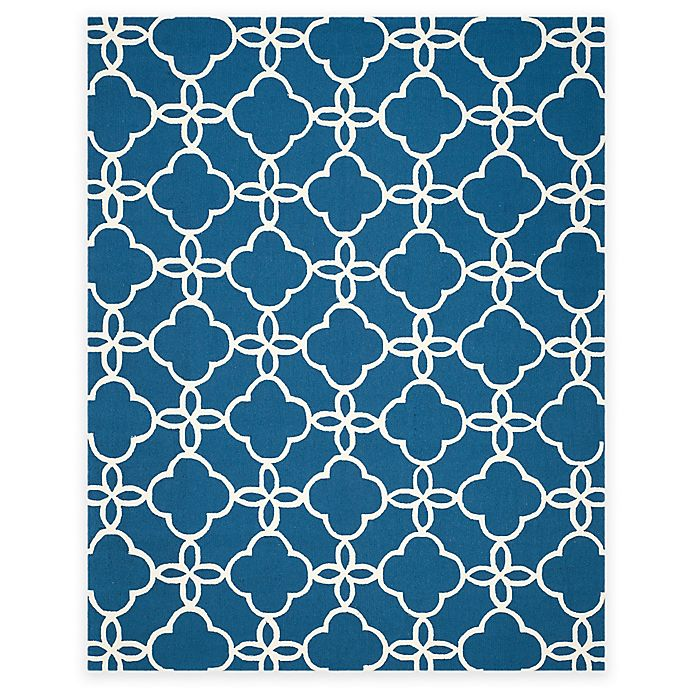 Alternate image 1 for Safavieh Four Seasons Langley 8-Foot x 10-Foot Area Rug in Navy/Ivory