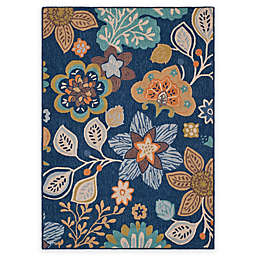 Safavieh Four Seasons Blossoms Area Rug in Navy
