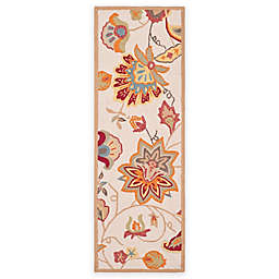 Safavieh Four Seasons Paisley Floral 2-Foot x 6-Foot Floral Runner in Yellow/Ivory