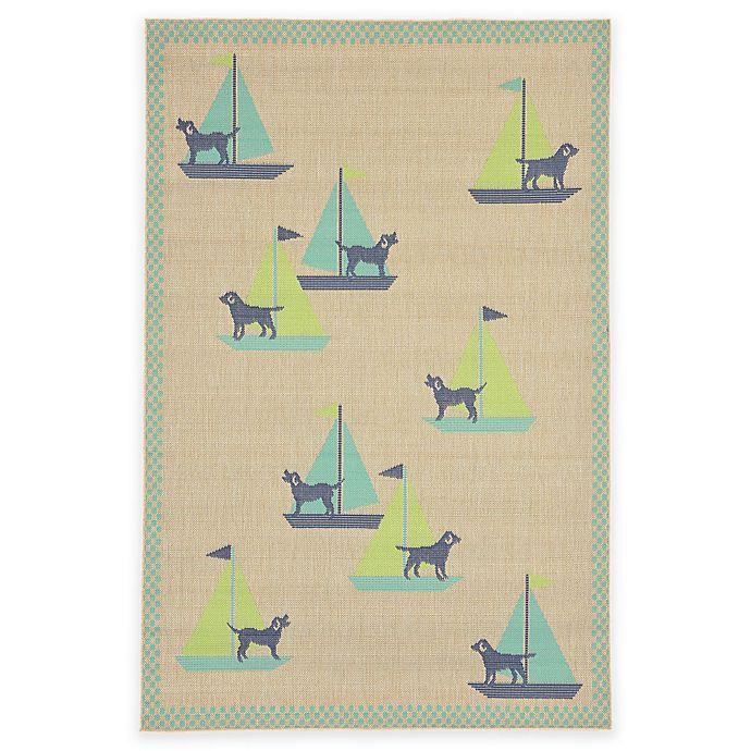 Alternate image 1 for Liorra Manne Playa Sail Dog Rug in Blue/Green