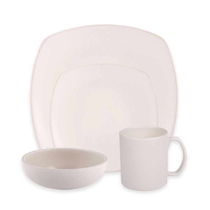 Alternate image 1 for Artisanal Kitchen Supply® Edge Square Dinnerware Collection in Linen