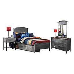 Hillsdale Kids and Teen Urban Quarters Panel Storage Bedroom Set
