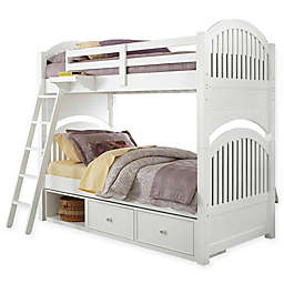 Hillsdale Kids and Teen Lake House Adrian Bunk Twin/Twin Bed with Storage