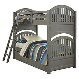 Hillsdale Kids and Teen Lake House Adrian Bunk Twin/Twin Bed with Trundle in Stone