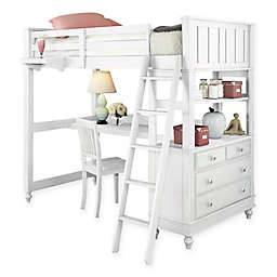 Hillsdale Kids and Teen Lake House Loft Bed with Desk