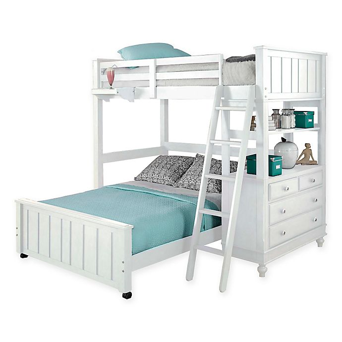 Alternate image 1 for Hillsdale Kids and Teen Lake House Loft with Twin/Full Bed in White