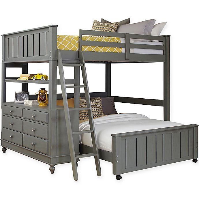 Alternate image 1 for Hillsdale Kids and Teen Lake House Loft with Lower Bed