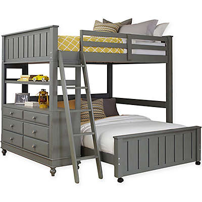 Hillsdale Kids and Teen Lake House Loft with Lower Bed