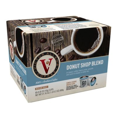 60 Count Victor Allen 174 Donut Shop Blend Coffee Pods For