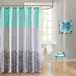 Intelligent Design Adel Printed Shower Curtain