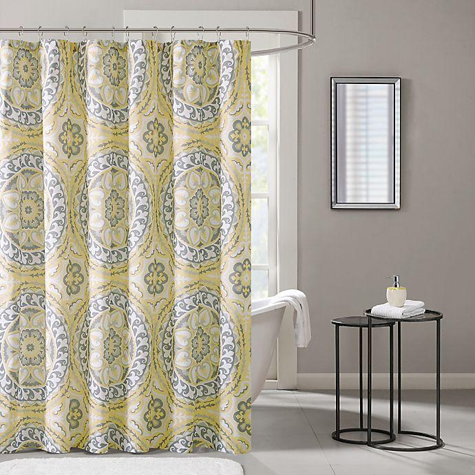 Madison park essentials serenity printed shower curtain - Madison park bathroom accessories ...