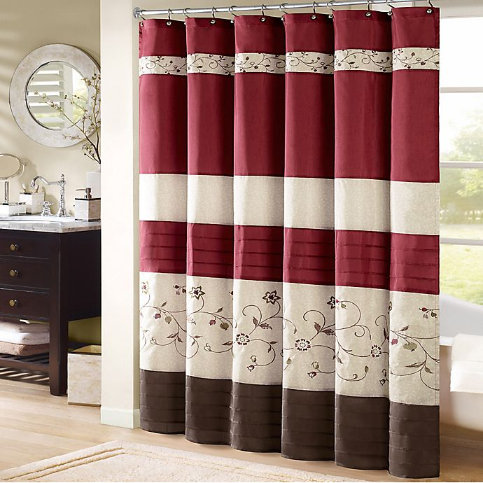 Awe Inspiring Madison Park Serene Embroidered Shower Curtain Bed Bath Machost Co Dining Chair Design Ideas Machostcouk